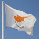 Cyprus flag against a blue sky