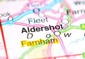 Map of Aldershot